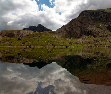 Reflection in Glaslyn, Mt Snowdon