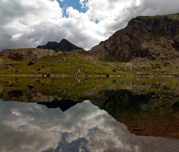 Reflection in Glaslyn, Mt Snowdon