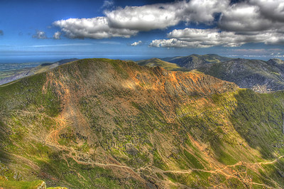 Crib Goch from the summit of Snowdon