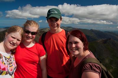 On the summit of Snowdon