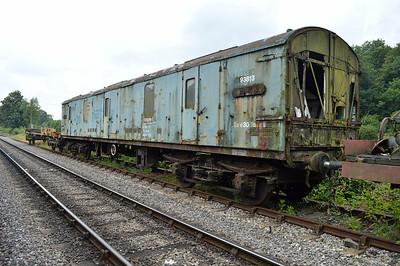 MK1 GUV 93813/86813 at the siding between Pickering and Newbridge Yd.