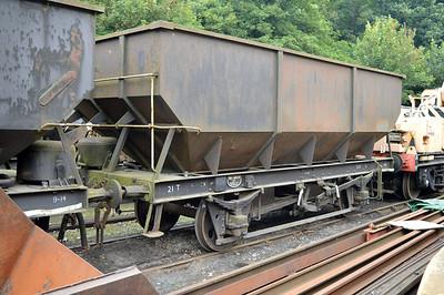 21t Steel Coal Hopper B418444 at Newbridge P-Way Depot.
