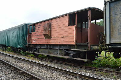 20t Brakevan B950077 at the siding between Pickering and Newbridge Yd.