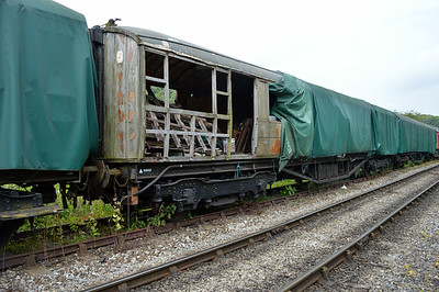 LNER Gresley TK 23890/99960 at the siding between Pickering and Newbridge Yd.