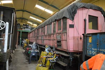 LNER Gresley Brake DE320427 at Newbridge P-Way Depot.