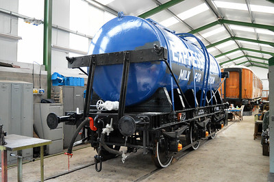 6w Milk Tank now water carrier B3192 inside Pickering Shed.