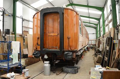 LNER Gresley Brake 3669 inside Pickering Shed.