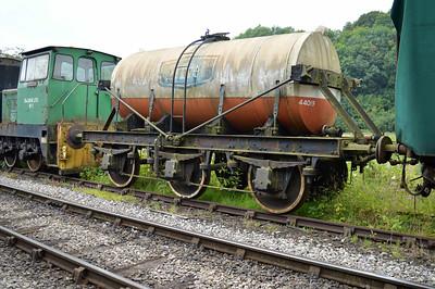 LMS 6w Milk Tank 44019 at the siding between Pickering and Newbridge Yd.