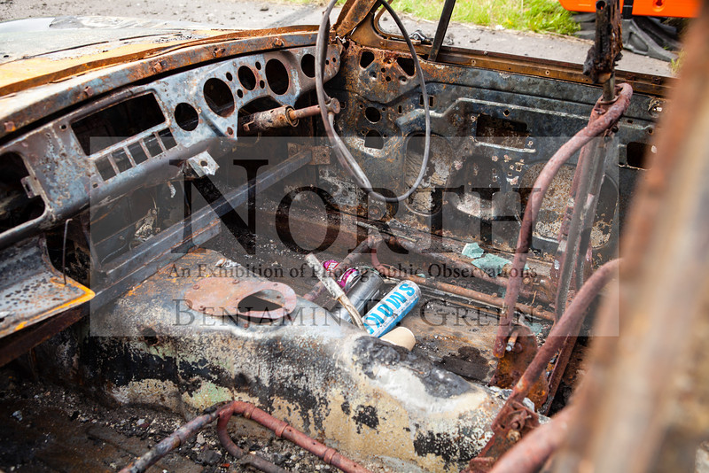 """'Rotting Car #1'<br /> Edition of 5<br /> Framed & Mounted 7""""x5"""" £25<br /> Prints available. £POA <br /> All enquiries, please use contact link above."""