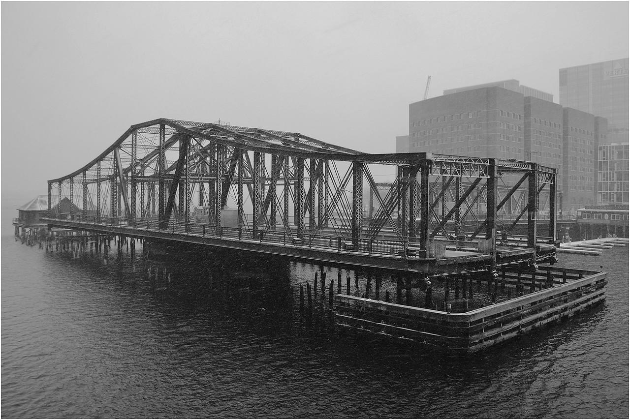 Bridge after closing. January, 2015.