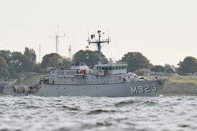 M923 NARCIS från Belgien, L x B: 51 m X 9 m