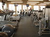Here's looking down the line up of cardio stuff. Treadmills, recumbents and ellipticals. And to the right is the new weight machines.