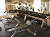 A few new and old pieces, and all the free weight dumbells on new racks.