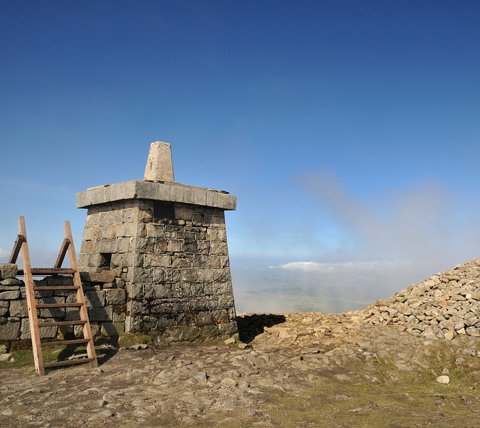 Summit of Slieve Donard, highest point in Northern Ireland.  At this height we are still at a lower altitude than where we live in Calgary, Canada.