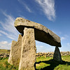 Legananny Dolmen - a neolithic tomb constructed over 4000 years ago.
