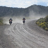 Joey, and Sy, kicking up dust on hwy 112.