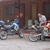 Well looks like we made it to Chama.   Unpacking our stuff, and craving a beer!<br /> We made good time.  Arrived in Chama around 5 pm.  Nice full day of riding.