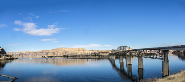 Confluence of the Palouse and Snake Rivers, Lyons Ferry, Washington.