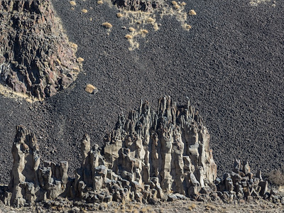 Rock formation at Palouse Falls, Washington.