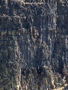 Basalt cliff, Palouse River canyon, Washington State.