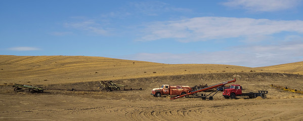 Farm equipment in the Palouse region of Washington.