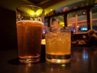 Good drinks at the Mill Creek Brewery, Walla Walla, Washington.