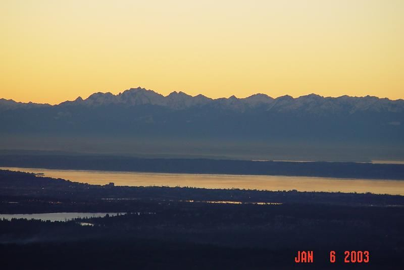 Looking west across Pudigt Sound at the Olympic Mountains 4:30PM