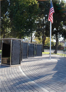 The newly completed permanent Northwood Gratitude and Honor Memorial on the morning of its dedication on November 14, 2010