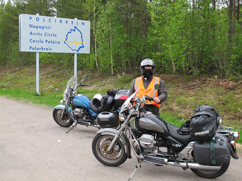 At the Arctic circle in Finland