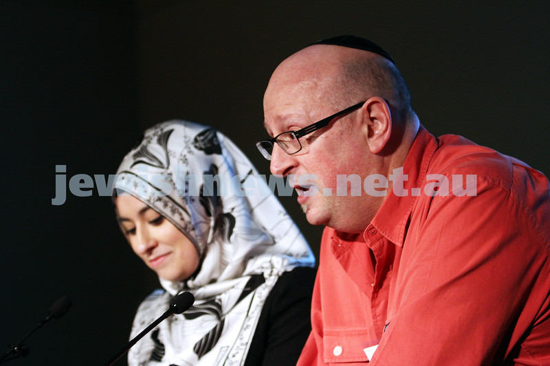 """2-6-13. The not so holy comedy debate. Melbourne Town Hall. """"Sport is not a religion"""".  David Marlow. Photo: Peter Haskin"""