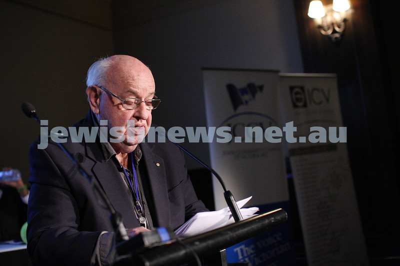 "2-6-13. The not so holy comedy debate. Melbourne Town Hall. ""Sport is not a religion"".  Father Bob.  Photo: Peter Haskin"