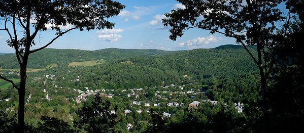Village de Woodstock, du mont Tom (Vermont)