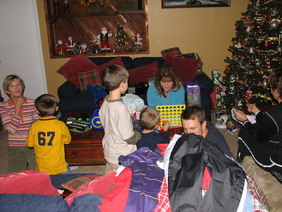 Connect Four was one of the new presents.