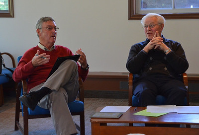 Fr. Tom Cassidy, provincial superior of the U.S. Province and Fr. Bill Marrevee, regional superior of Canada.