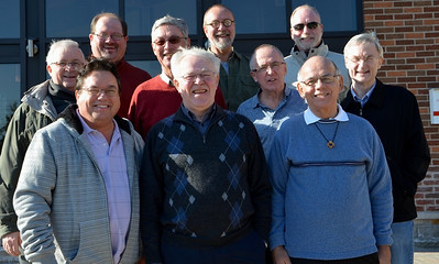 Meeting participants: Fr. Maurice Légaré, Fr. Jack Kurps, Br. Duane Lemke, Fr. Tom Cassidy, Fr. Bill Marrevee, Fr. Byron Haaland, Fr. Paul Tennyson, Fr. Ed Kilianski, Fr. Richard Woodbury and Fr. Terry Langley