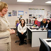 U.S. Rep. Susan Brooks dropped by Donna Cook's Digital Citizenship class at Frankton Jr/Sr High School Monday afternoon and talked about technology and asked the students what they were learning.