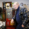 Don Knight/The Herald Bulletin<br /> Frank Hajny leans on his tool box at Cycle Machining Company. Hajny is closing up shop after 53 years of working on Harley Davidson Motorcycles and 30 years owning his own shop on Silver Street in Anderson.