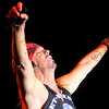 "Don Knight/The Herald Bulletin<br /> Bret Michaels opens his set with ""Talk Dirty to Me"" during his concert at the new Terrace Showroom at Hoosier Park."