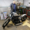 Don Knight/The Herald Bulletin<br /> Frank Hajny is closing his Cycle Machining Company after 30 years in business and 53 years working on Harley Davidson Motorcycles.