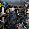 Don Knight/The Herald Bulletin<br /> Frank Hajny looks for a part at Cycle Machining Company in Anderson. After 30 years in business and 53 years working on Harley Davidson Motorcycles Hajny is closing his shop.