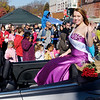 Christmas in Pendleton 2013 Snow Queen Cecelia Westbrook waves to the crowd lining the street during the parade.