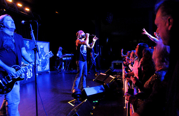 """Don Knight/The Herald Bulletin<br /> Bret Michaels opens his set with """"Talk Dirty to Me"""" during his concert at the new Terrace Showroom at Hoosier Park."""