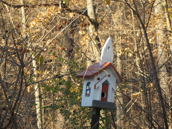 A church birdhouse at Mounds Park.<br /> <br /> Photographer's Name: Brian Fox<br /> Photographer's City and State: Anderson, Ind.