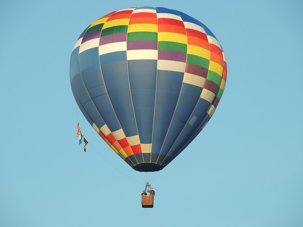 Hot air balloon over Killbuck.<br /> <br /> Photographer's Name: Laura Smith<br /> Photographer's City and State: Anderson, IN