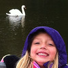 "My granddaughter Lilly McIntyre adores this lovely bird at Shadyside Lake that she has dubbed ""Snow White."" We visit every day after school and when the bird sees us she swims right to us!<br /> <br /> Photographer's Name: Tina Snyder<br /> Photographer's City and State: Anderson, Ind."