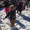 "My grandson Carson Fedor playing in the ""snow"" at Christmas in Pendleton!<br /> <br /> Photographer's Name: Brenda Fedor<br /> Photographer's City and State: Anderson, Ind."