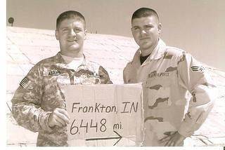 My sons, Craig and Kevin Adams, serving in Iraq in 2008.<br /> <br /> Photographer's Name: Diana Adams<br /> Photographer's City and State: Frankton, Ind.