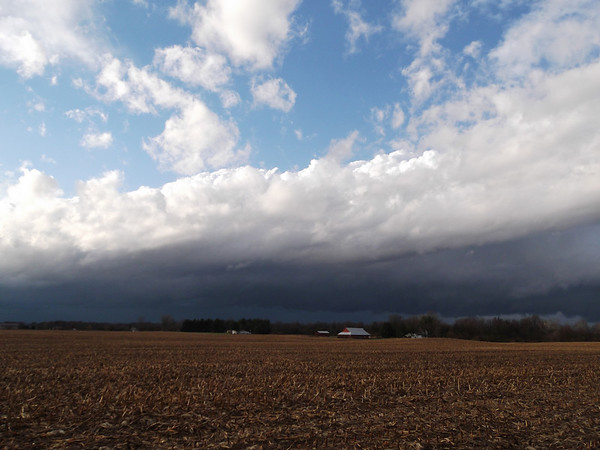 Sunday's storm, looking towards Elwood.<br /> <br /> Photographer's Name: Harry Kirchenbauer<br /> Photographer's City and State: Anderson, Ind.