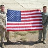 My sons, Kevin and Craig Adams, serving in Iraq in 2008.<br /> <br /> Photographer's Name: Diana Adams<br /> Photographer's City and State: Frankton, Ind.