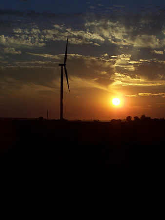 Sunset at Windmill farm in Elwood<br /> <br /> Photographer's Name: Laura Johnson<br /> Photographer's City and State: Alexandria, IN
